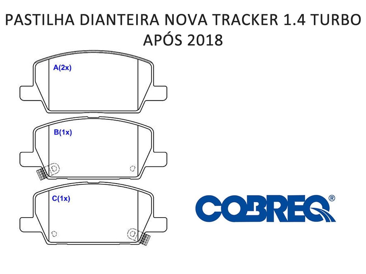 Pastilha Freio Dianteira Tracker 1.4 16v Turbo Após 2018  - Unicar