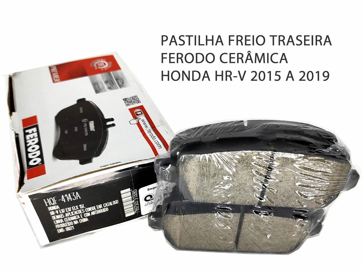 Pastilha Freio Dianteira + Traseira Cerâmica Honda HR-V HRV 2015 a 2019 Original Ferodo  - Unicar