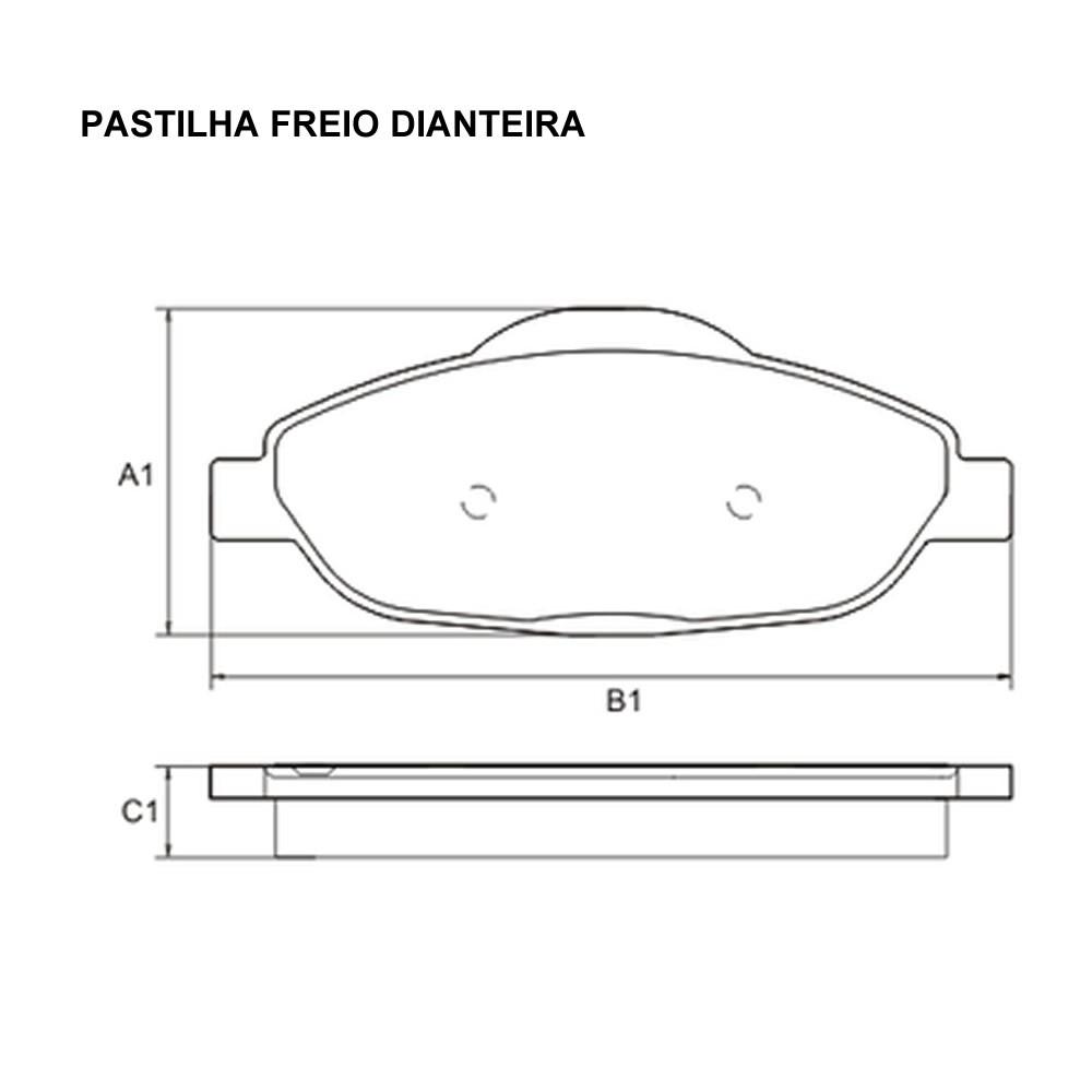 Pastilha Freio Dianteiro Cerâmica C4 Lounge 2.0 Após 2013