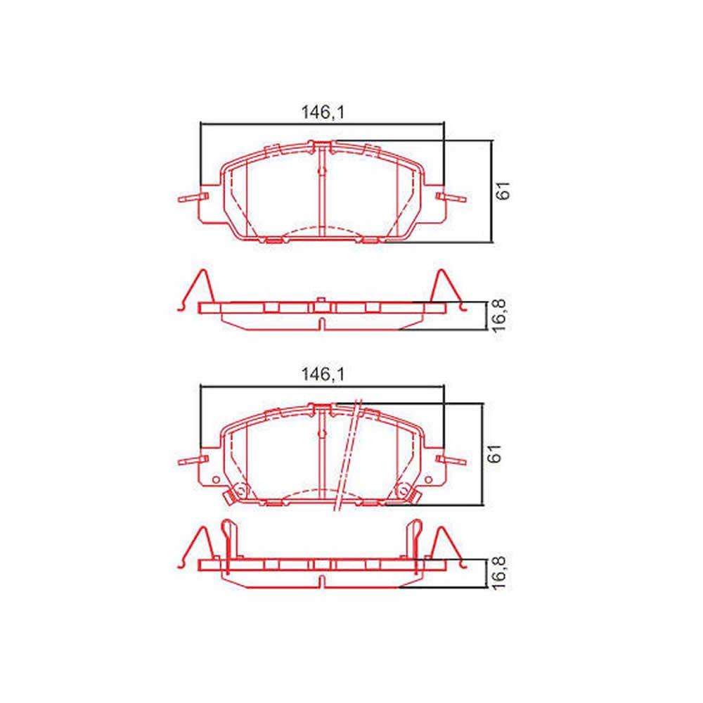 Pastilha Freio Dianteiro Ceramica Ferodo Honda Civic 2017 a 2019  - Unicar