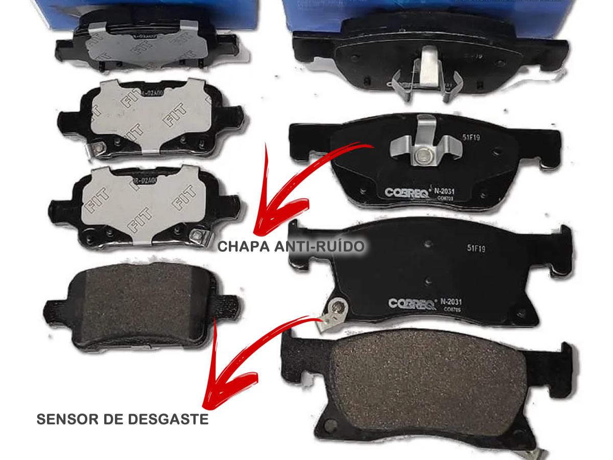 Pastilha Freio Dianteiro e Traseiro Cruze 1.4 Turbo a Partir de 2017 Original Cobreq  - Unicar