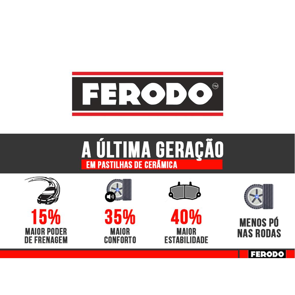 Pastilha Freio Dianteiro Gol G5 Voyage Saveiro Após 2012 Ferodo Ceramica  - Unicar