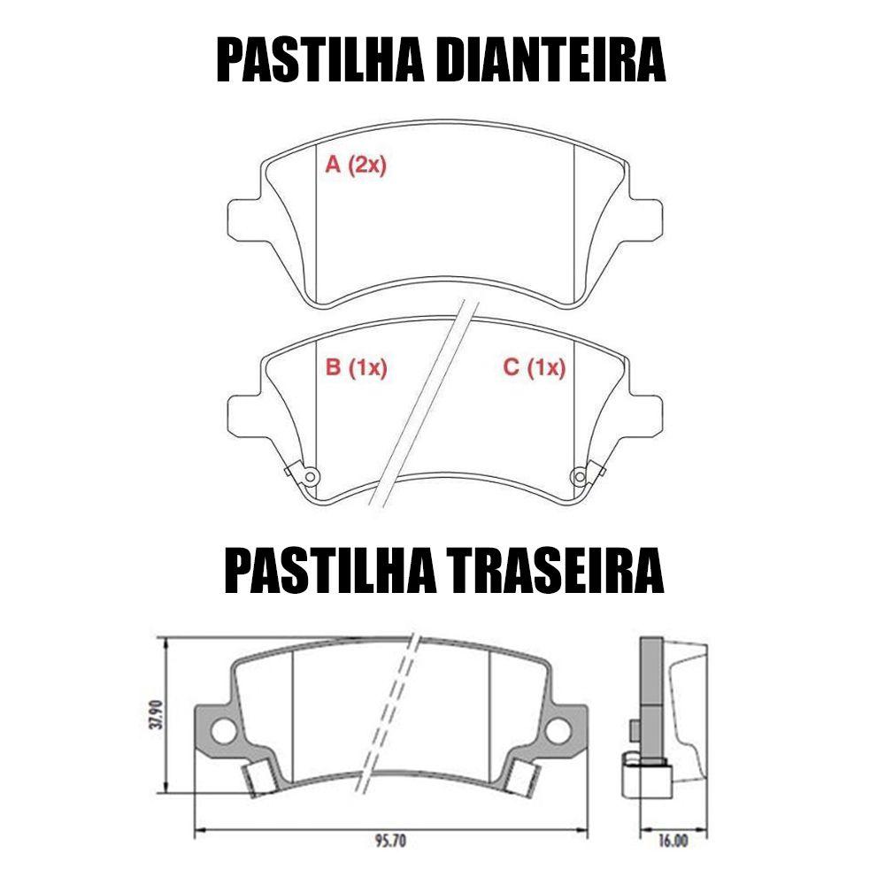 Pastilha Freio Dianteiro + Traseiro Ferodo Ceramica Corolla Fielder 03/08  - Unicar