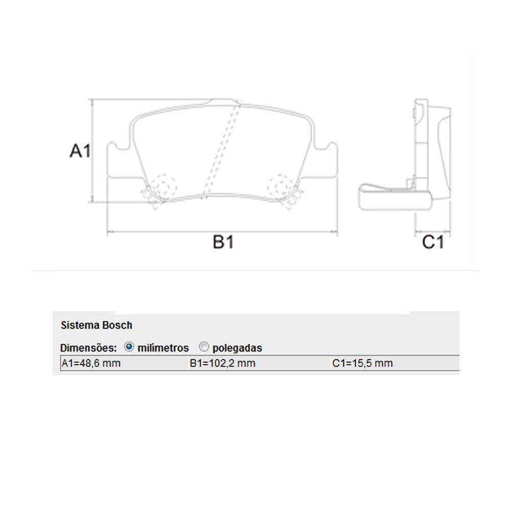 Pastilha Freio Traseira Corolla 2009 a 2014 Original Bosch