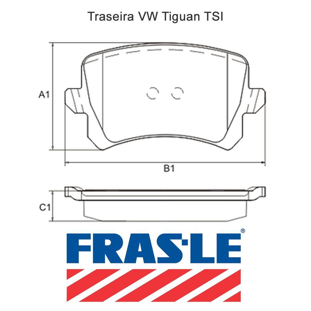 Pastilha Freio Traseira VW Tiguan 2.0 TSI Frasle  - Unicar