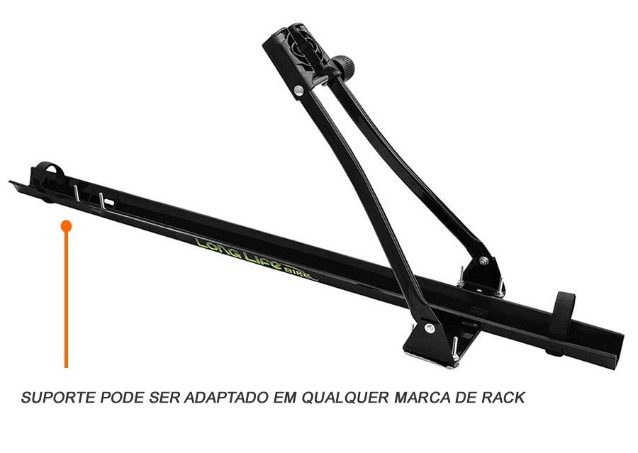Rack Aluminio Gol G5 G6 G7 + Calha Bike Longlife  - Unicar