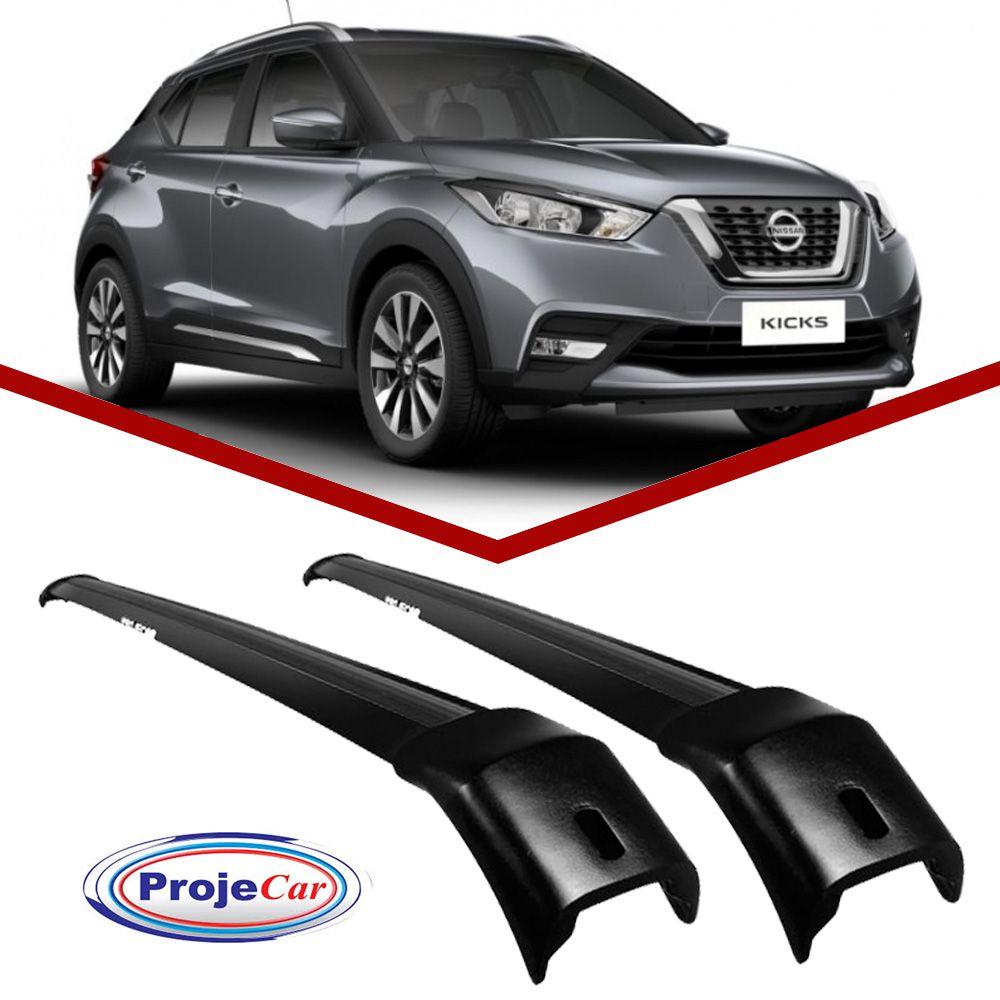 Rack de Teto Travessa Nissan Kicks Projecar Preta  - Unicar