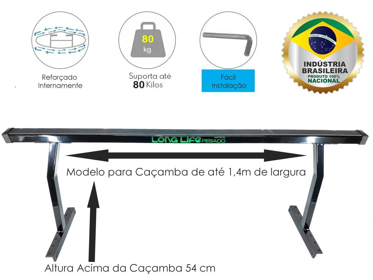Rack Goleira Caçamba Camionete Saveiro Strada Montana Hoggar Barra 1,40 mt  - Unicar
