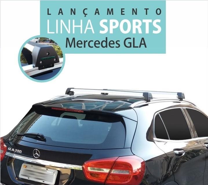 Rack Teto Mercedes GLA Longlife Sport Aluminio  - Unicar