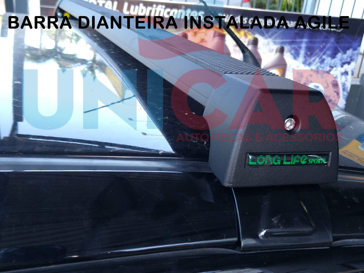 Rack Teto Alumínio Sport Agile Todos Anos Original LongLife