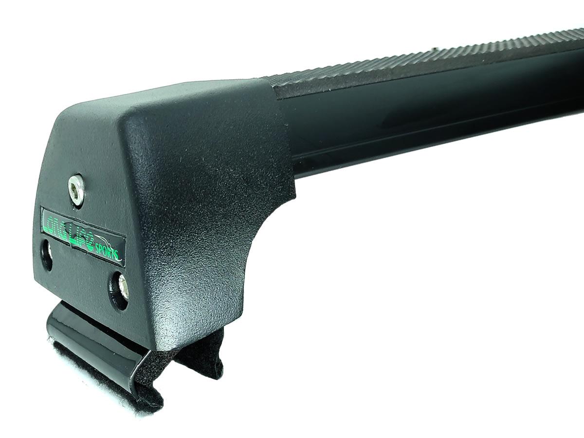 Rack Teto Bagageiro Chery Tiggo 8 Após 2020 Com Longarina Integrada LongLife Alumínio Sport Preto  - Unicar