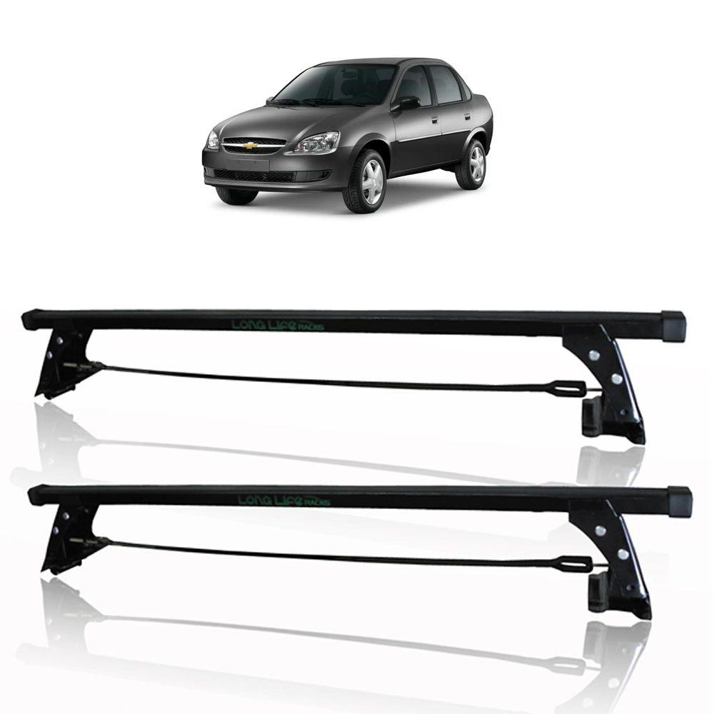 Rack Teto Bagageiro Corsa Hatch e Sedan 4 Portas Gm Classic 4 Portas Longlife Fixado na Porta  - Unicar