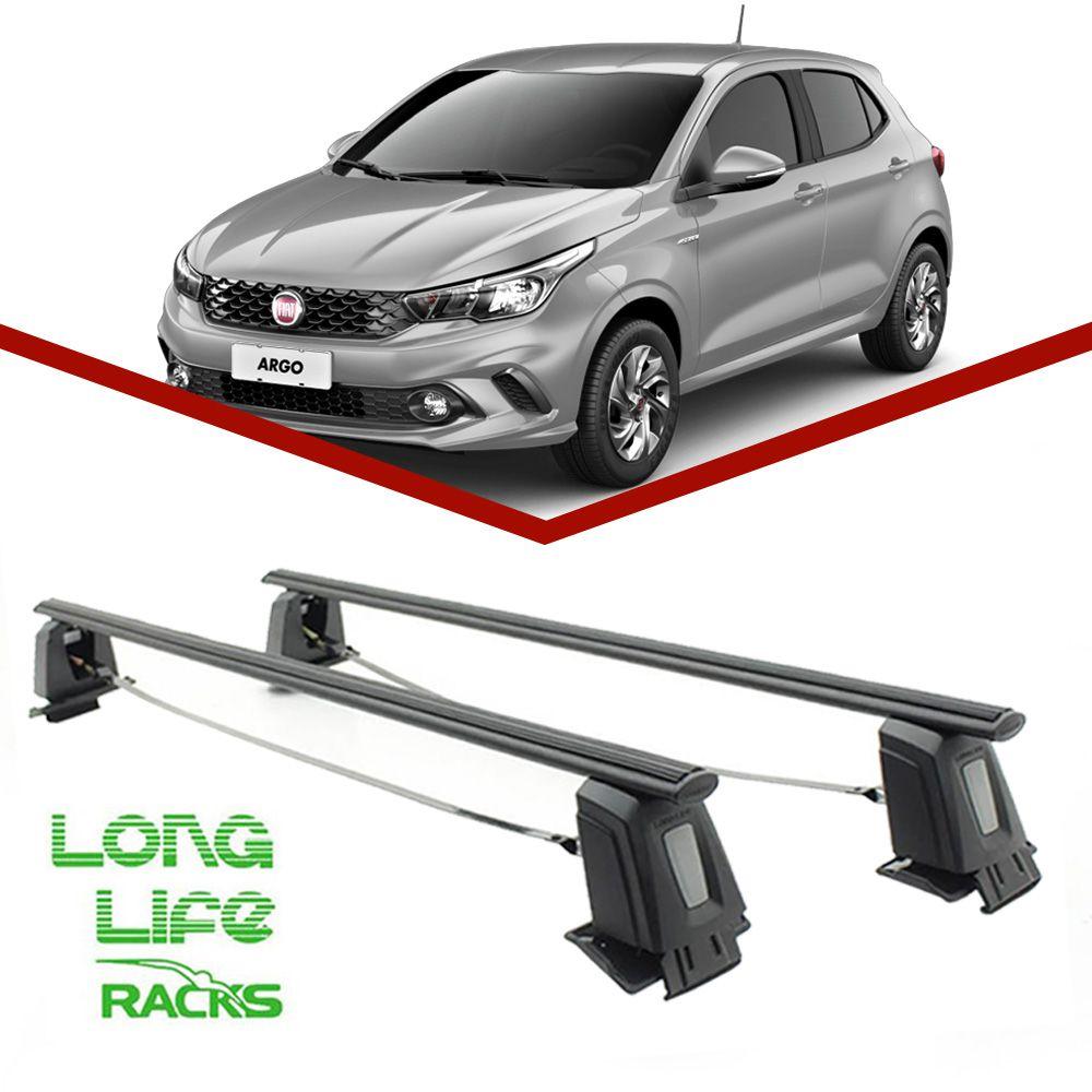 Rack Teto Bagageiro Fiat Argo Novo Uno 4 Portas LongLife Steel  - Unicar