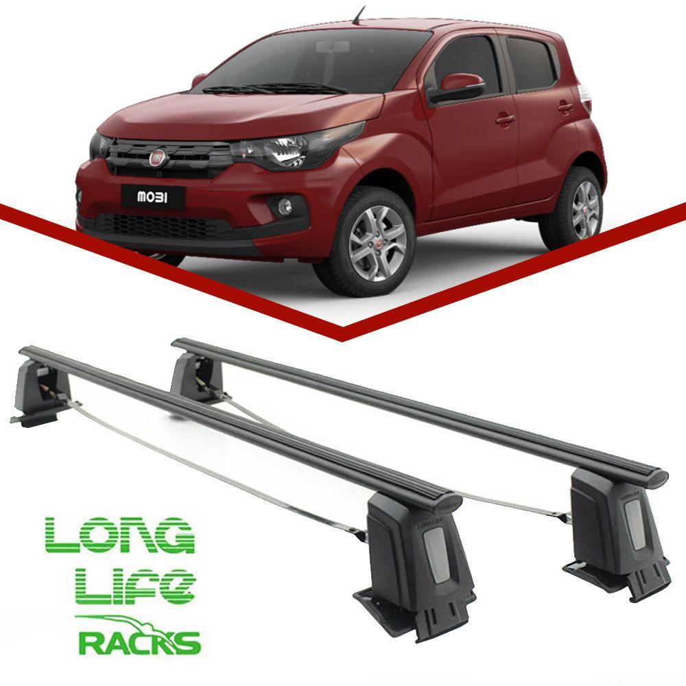 Rack Teto Bagageiro Fiat Mobi Todos LongLife Steel  - Unicar