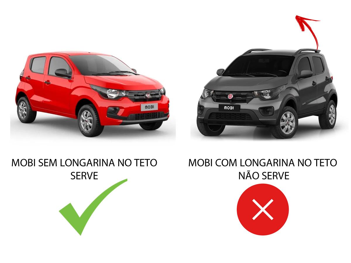 Rack Teto Bagageiro Fiat Mobi Todos Sem Longarina no Teto Todos Anos 4 Portas  - Unicar