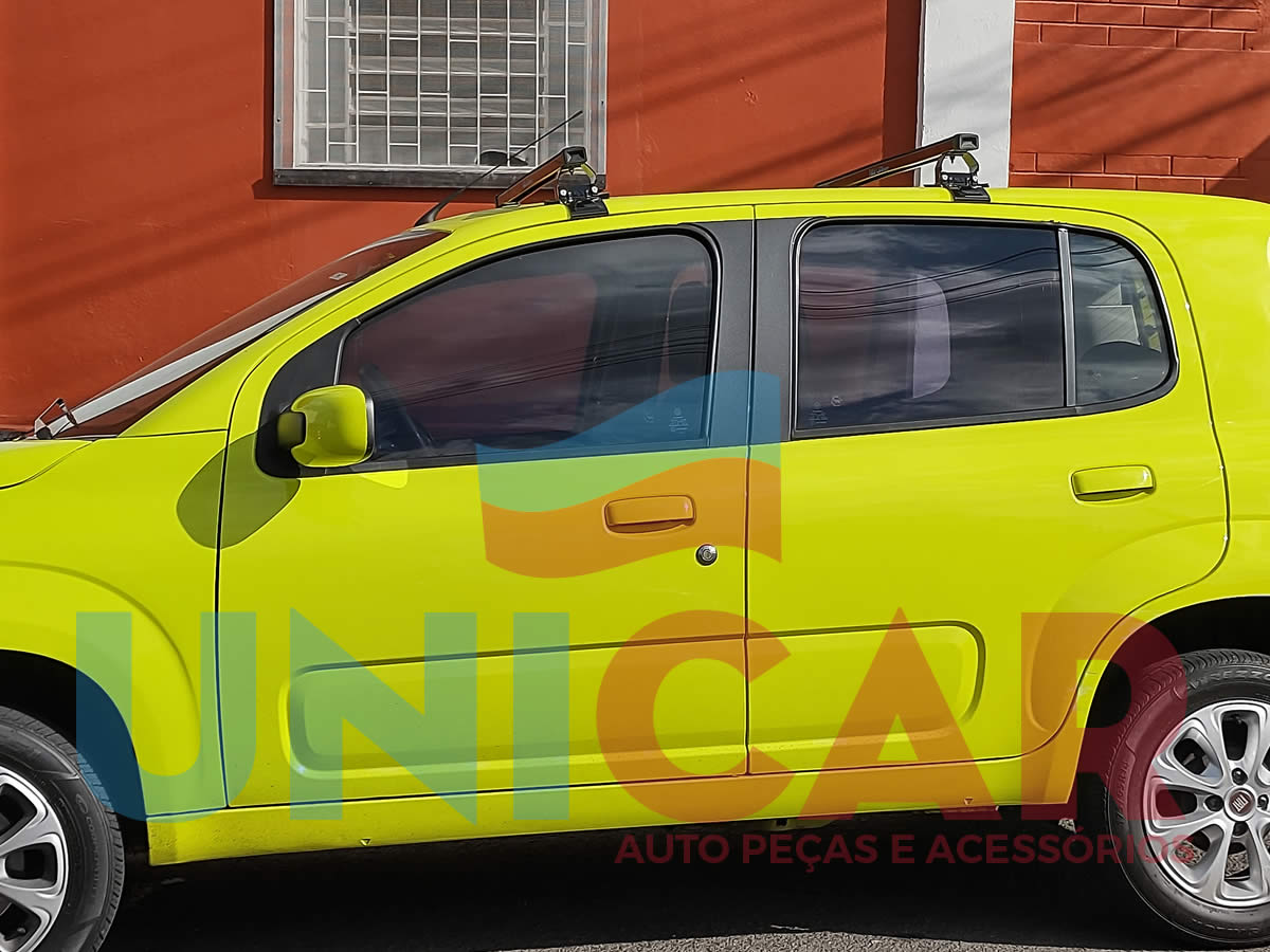 Rack Teto Bagageiro Fiat Novo Uno 4 Portas Após 2010  - Unicar