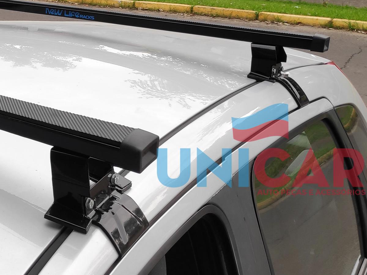 Rack Teto Bagageiro Fiesta Hatch e Sedan 2003 a 2014 NewLife Aço