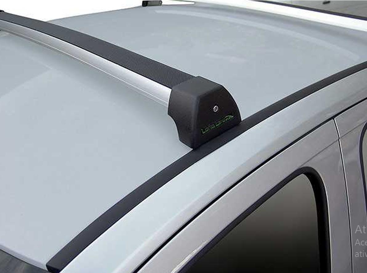 Rack Teto Bagageiro Gol G5 G6 G7 Voyage 2009 Em Diante Longlife Modelo Aluminio Preto  - Unicar