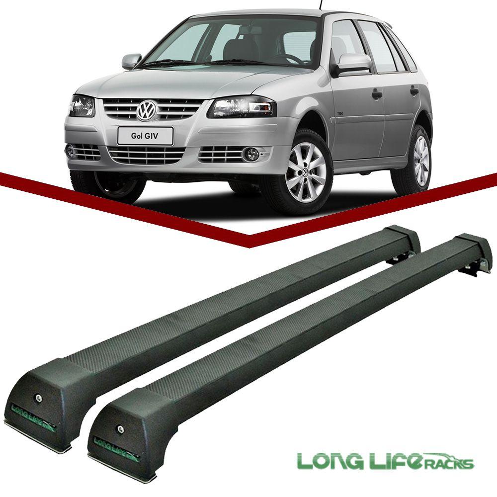 Rack Teto Bagageiro Gol Geracao 2 3 4 Longlife Modelo Aluminio Preto  - Unicar