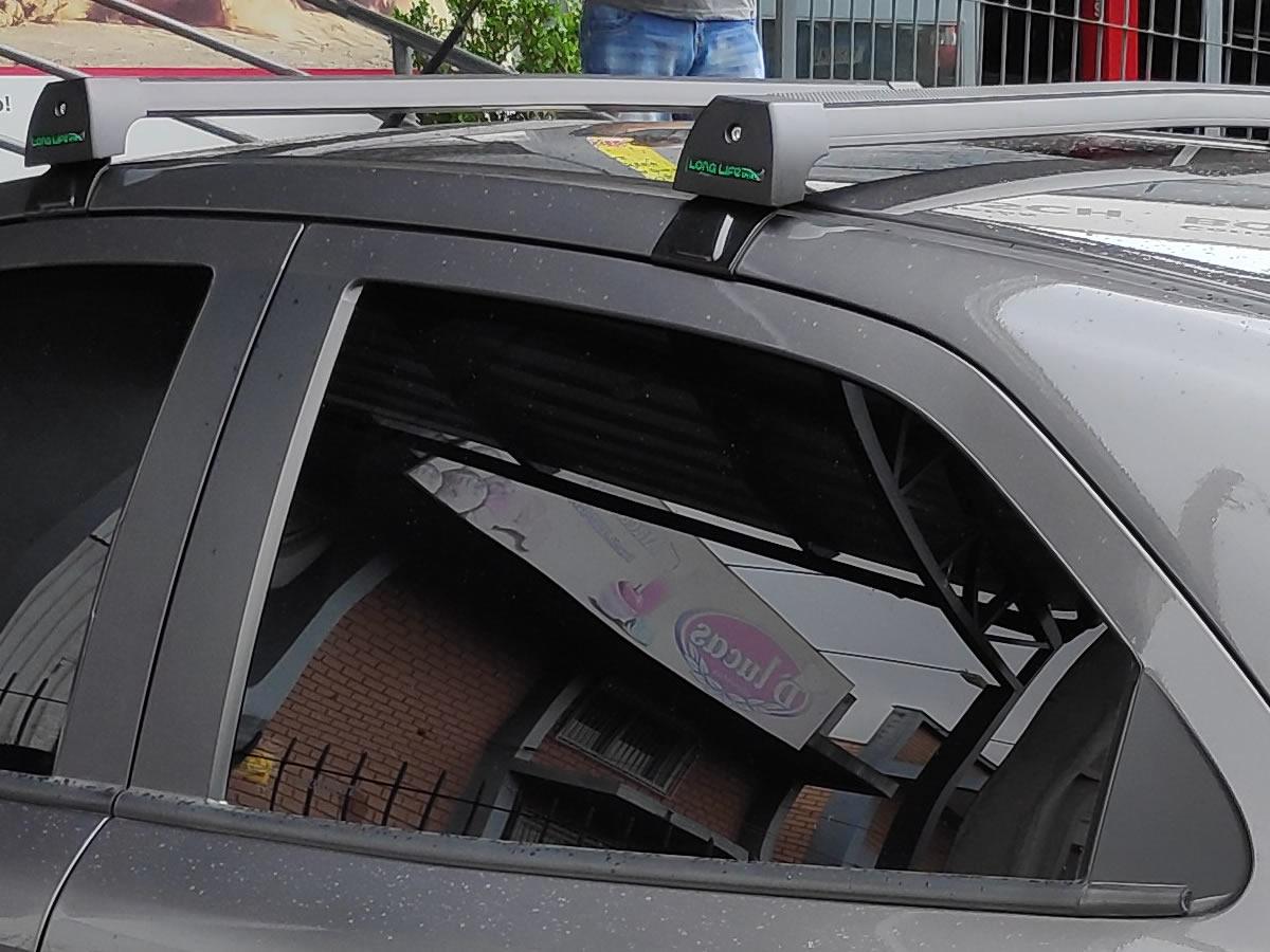 Rack teto Bagageiro Novo Ford Ka Hatch Sedan 2015 Em Diante Longlife Modelo Aluminio Preto