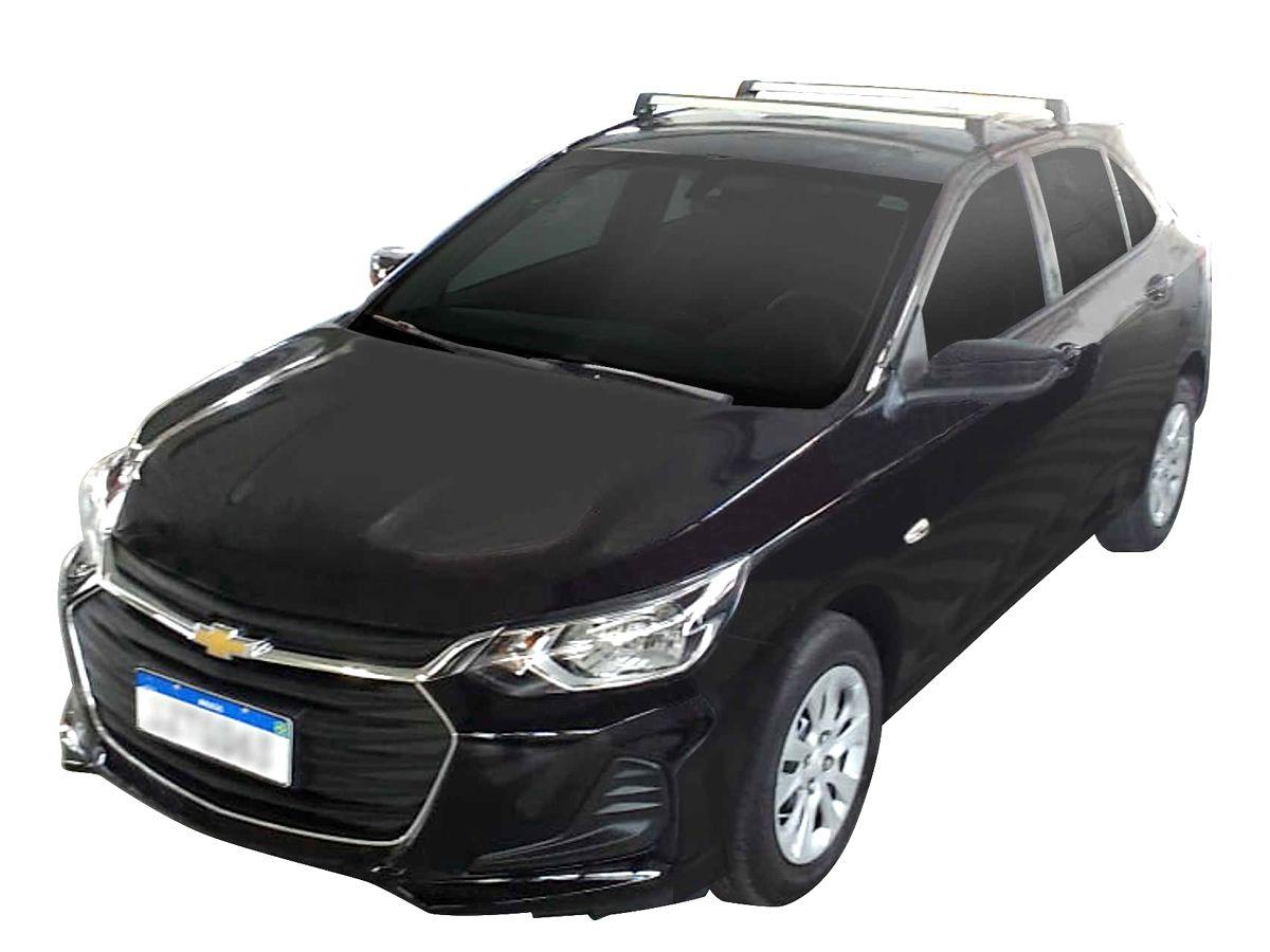 Rack Teto Bagageiro Onix Após 2020 Longlife Modelo Aluminio Prata  - Unicar