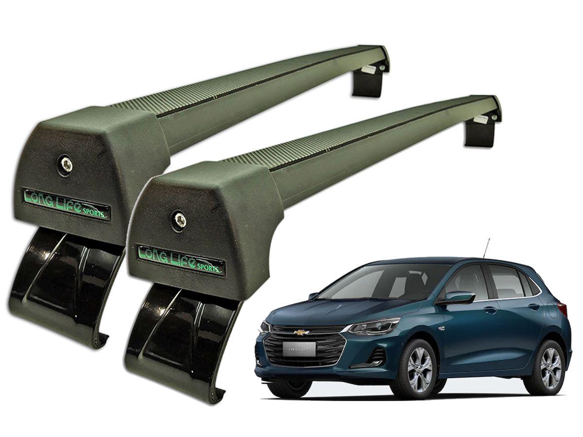 Rack Teto Bagageiro Onix Após 2020 Longlife Modelo Aluminio Preto  - Unicar