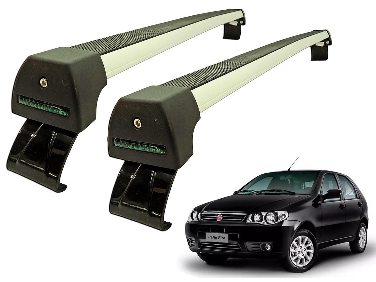 Rack Teto Bagageiro Palio / Siena 4 portas (Exceto Novo Palio e Grand Siena) Longlife Modelo Aluminio Anodizado  - Unicar