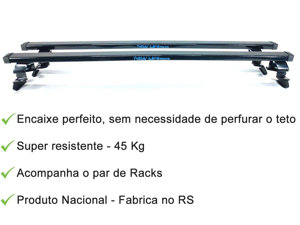 Rack Teto Bagageiro Peugeot 206 / 207 2 Portas Todos Anos  - Unicar