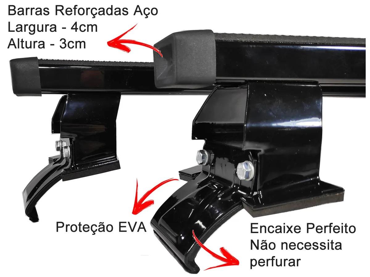 Rack Teto Bagageiro Peugeot 206 / 207 4 Portas Hatch e Sedan Todos Anos  - Unicar