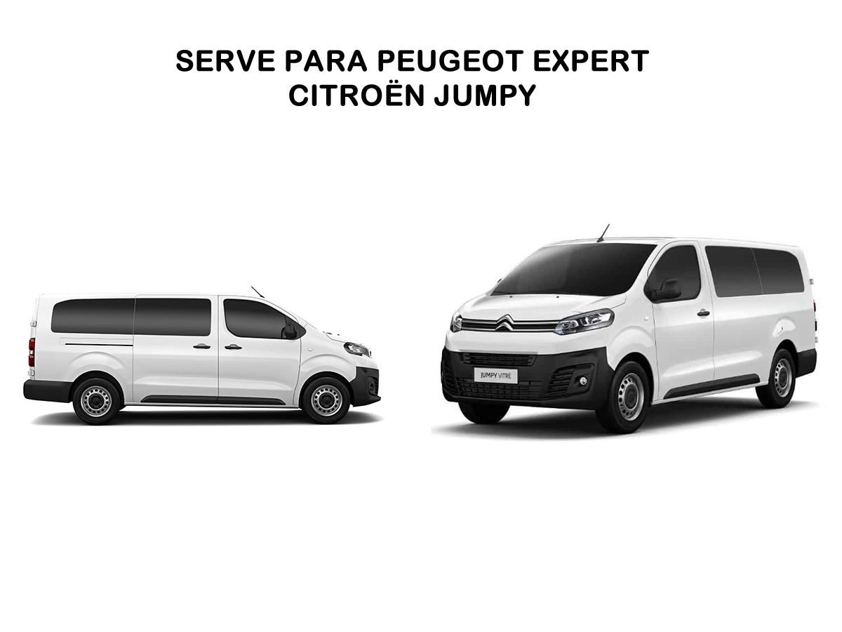 Rack Teto Bagageiro Peugeot Expert Citroën Jumpy LongLife Alumínio Sport Preto