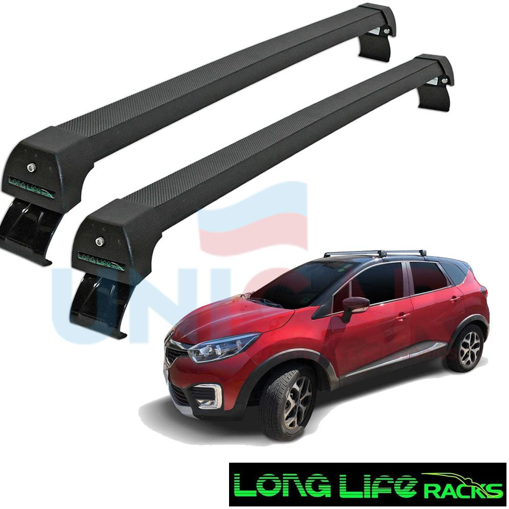 Rack Teto Bagageiro Renault Captur Longlife Sports Aluminio  - Unicar