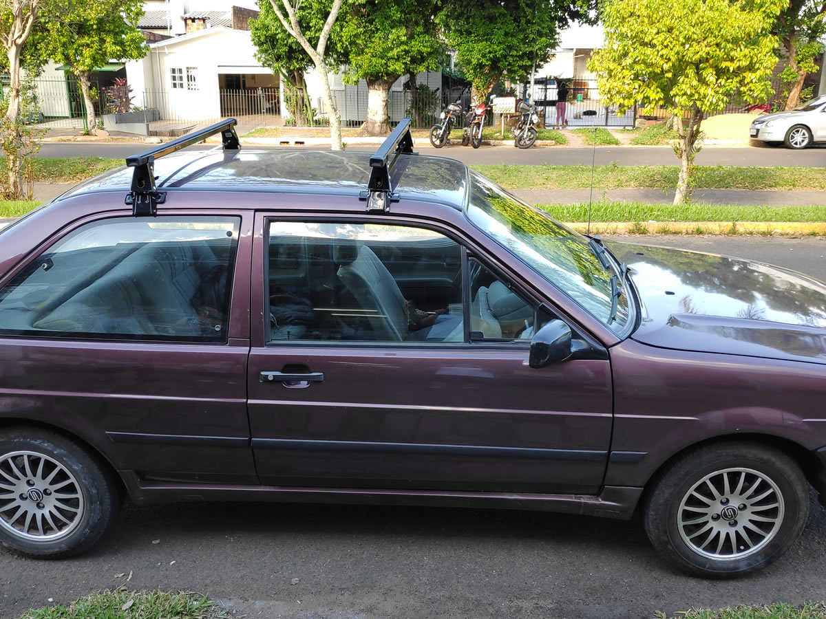 Rack Teto Bagageiro Santana 1992 em diante 2 portas Aco Longlife  - Unicar