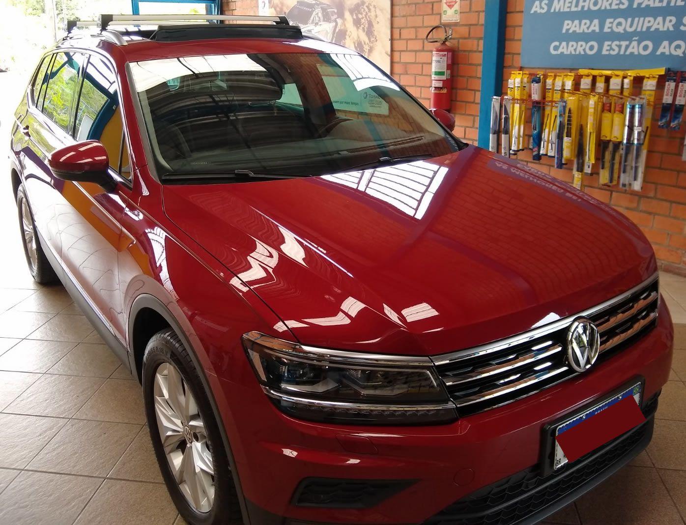 Rack Teto Nova Tiguan Após 2018 LongLife Sport Alumínio  - Unicar