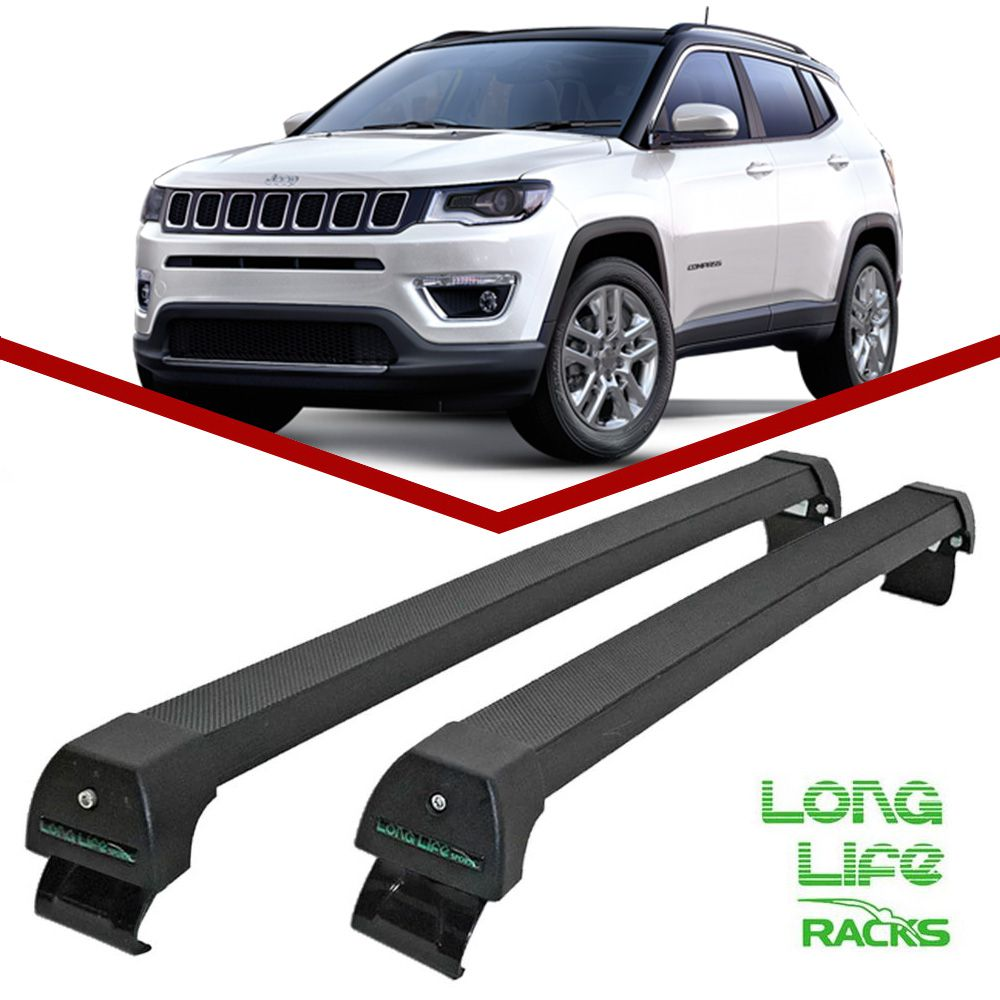 Rack Teto Travessa Jeep Compass Após 2017 Longlife Sports Aluminio - Unicar