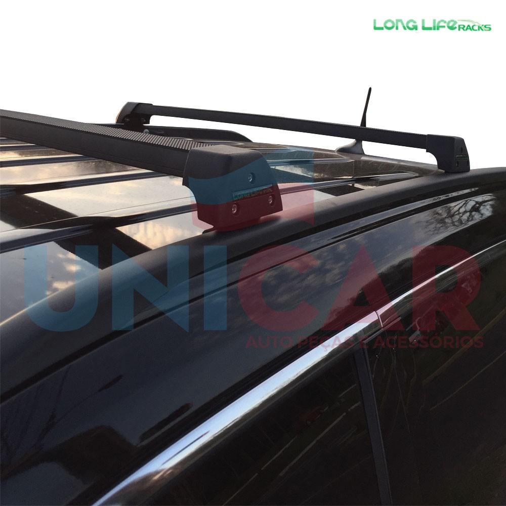 Rack Teto Travessa Jeep Compass Após 2017 Longlife Sports Aluminio  - Unicar