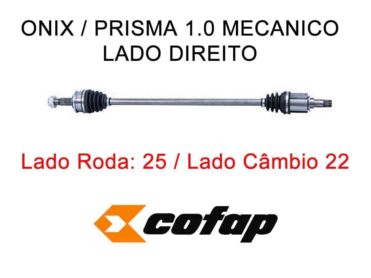 Semi Eixo Lado Direito Onix Prisma 1.0 Manual 2013 a 2017