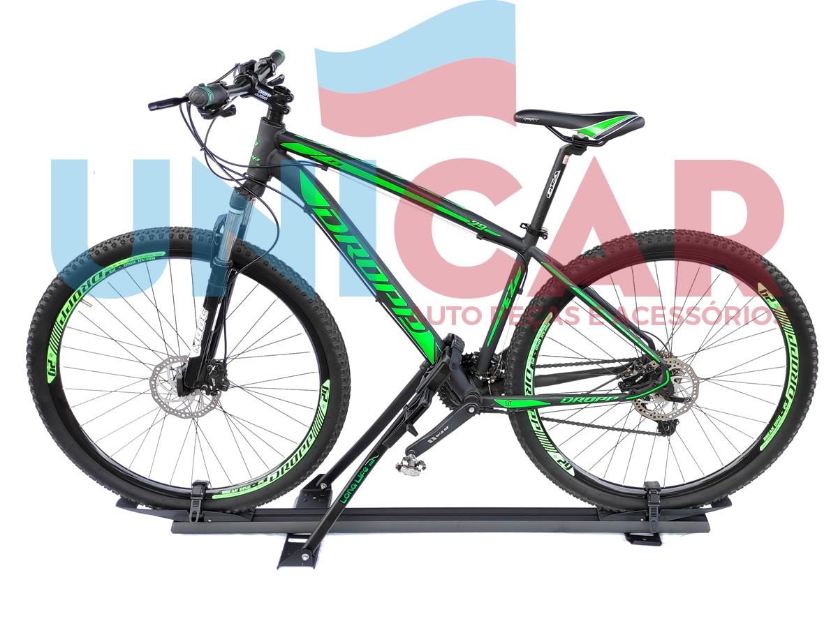 Suporte Calha Transbike Bicicleta Para Carros Aluminio Com Sistema Travamento LongLife Premium Long