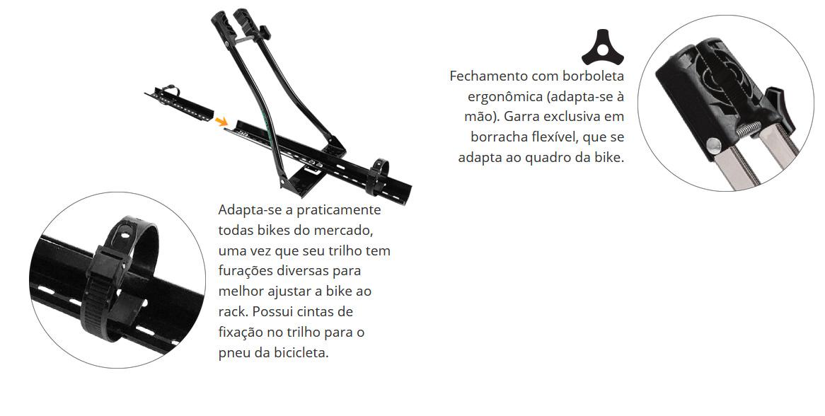 Suporte Calha Transbike Longlife Bike Bicicleta Multibike Braço Alongado  - Unicar