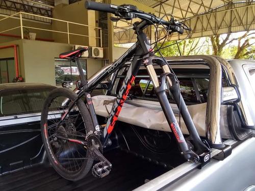Suporte Transbike Fixação Lateral Caçamba Hilux Amarok Toro  - Unicar