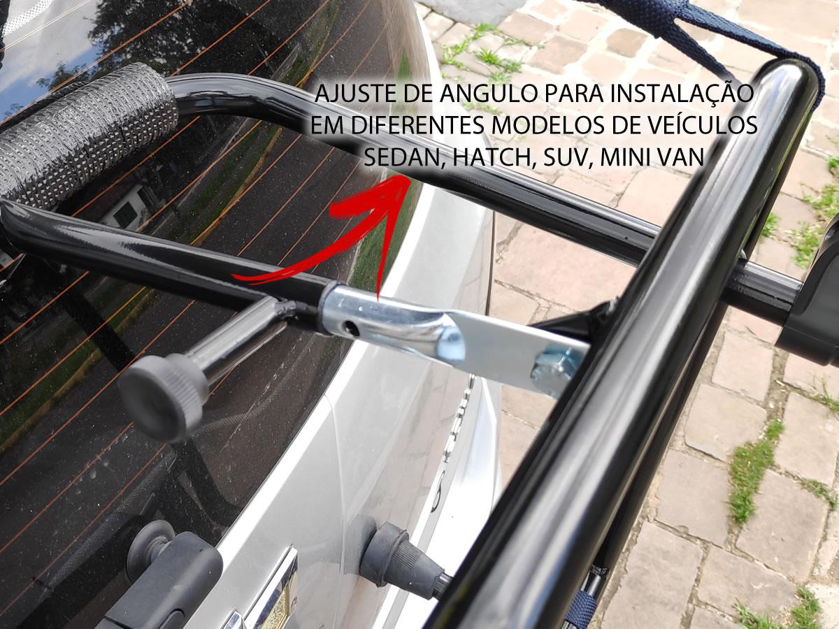 Transbike Suporte Universal Rack Para Porta Malas Para 2 Bikes Pace Premium Com Alça  - Unicar