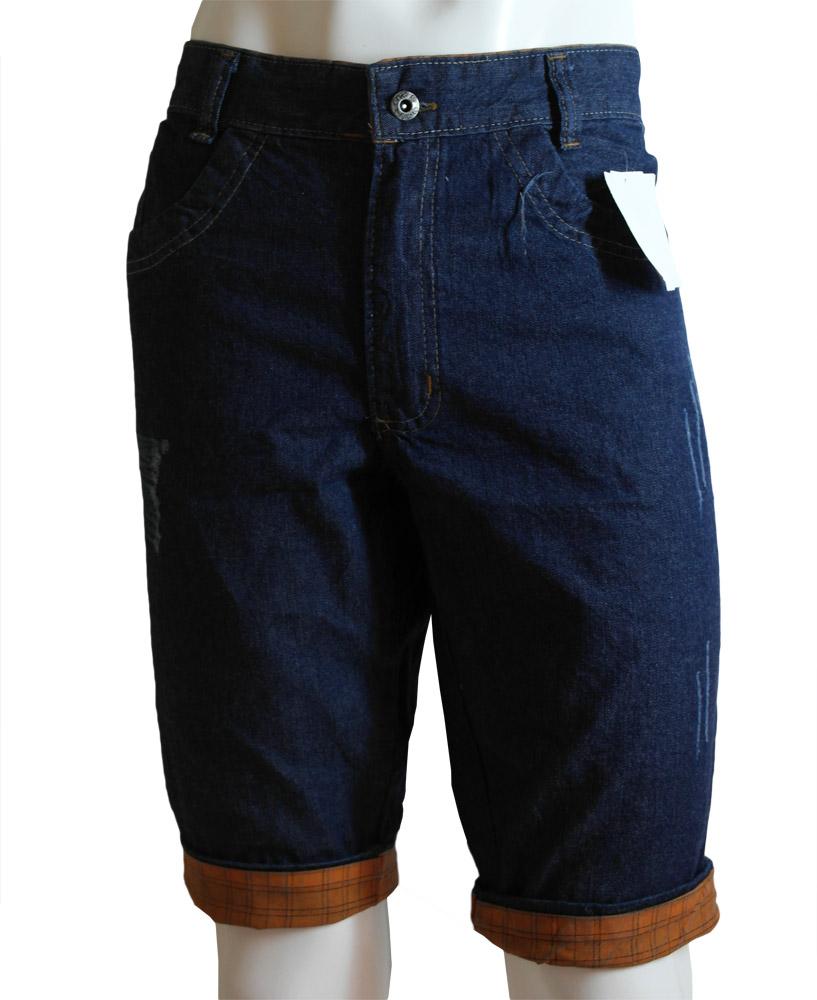 Bermuda Masc. Jeans com Barra - 877