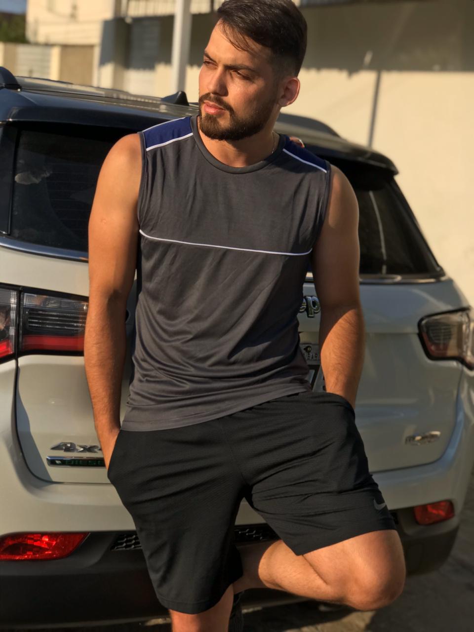 Blusa Regata Fitness. Masc-002
