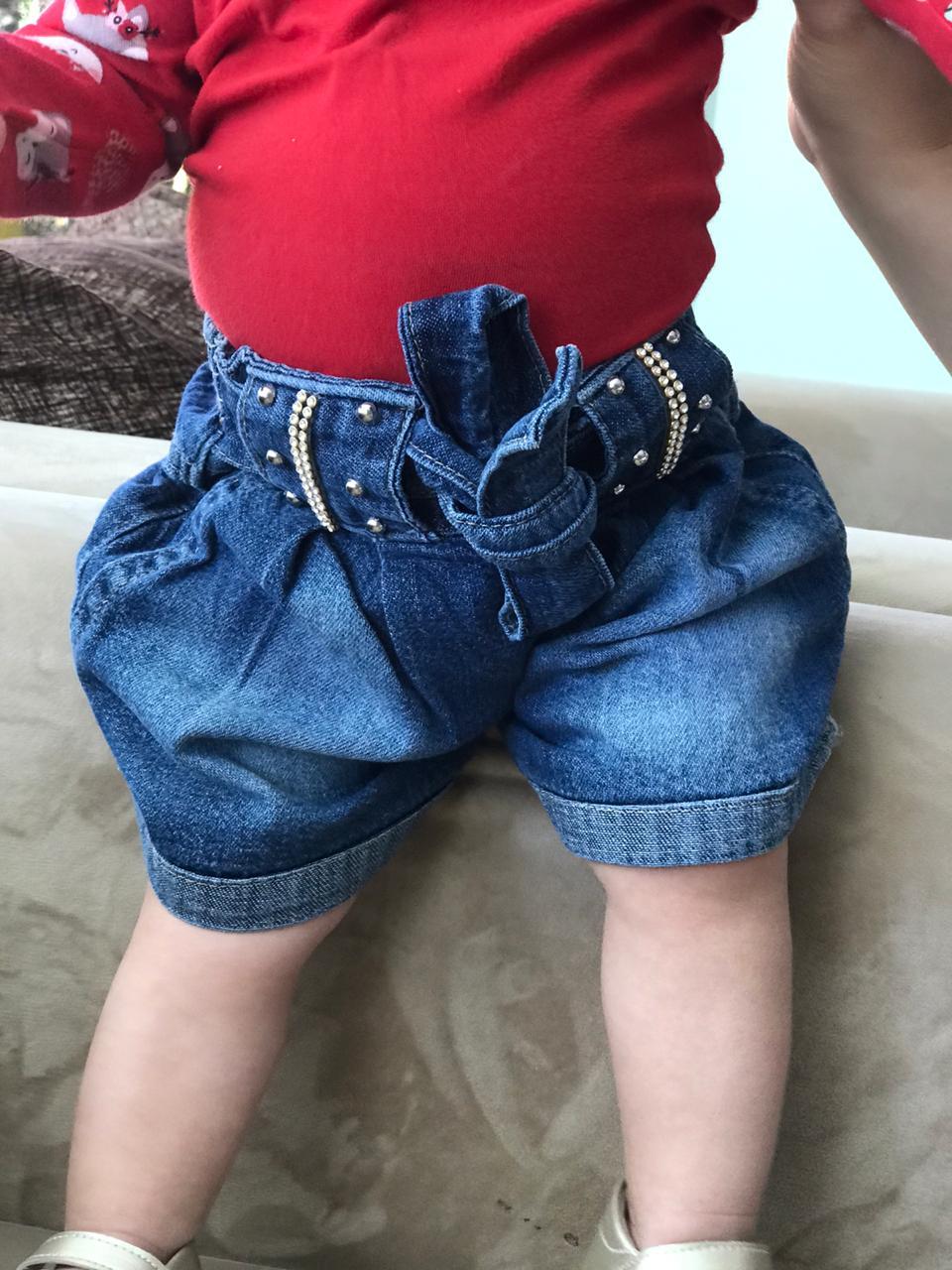 Short Jeans com Cinto-1010