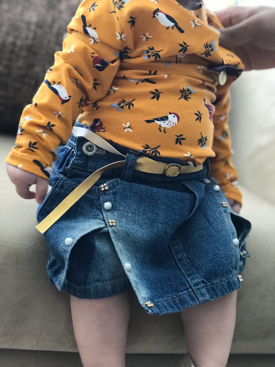 Short Jeans com Pedraria-1468