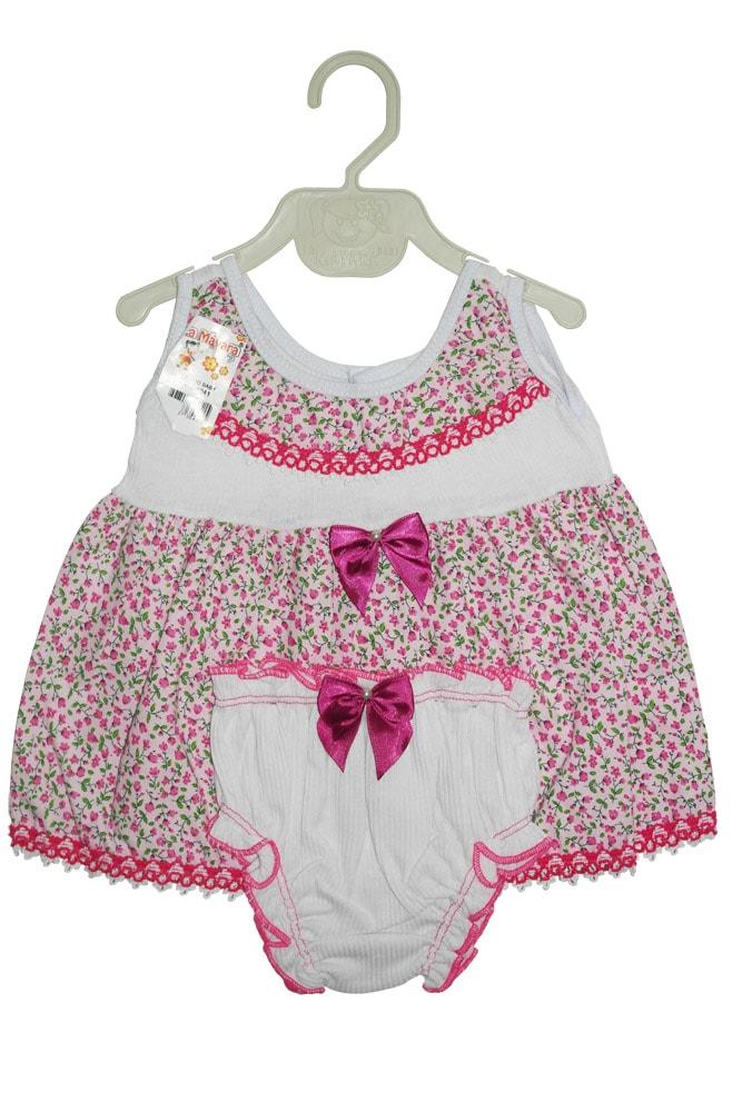 Vestido Fem. algodão infantil - 806