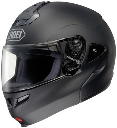Capacete Shoei Multitec preto fosco ou brilhante  - Motosports