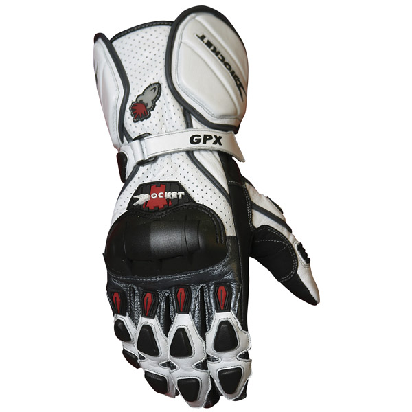 Luva Joe Rocket GPX 2.0 Branca  - Motosports