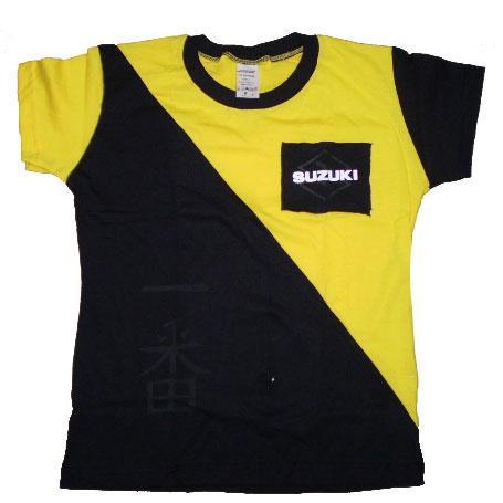 Camiseta Joc Suzuki Samurai Feminina Amarela  - Motosports