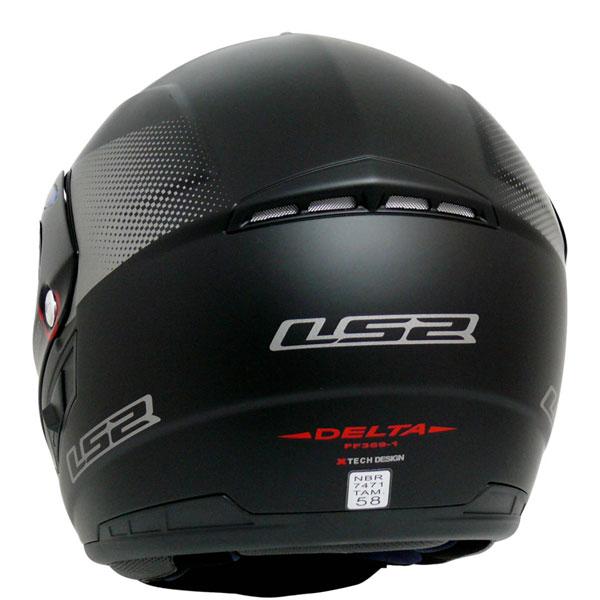 Capacete LS2 FF369 Delta Preto Fosco   - Motosports