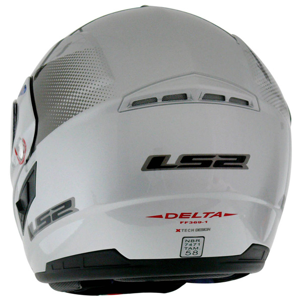 Capacete LS2 FF369 Delta Cinza claro  - Motosports